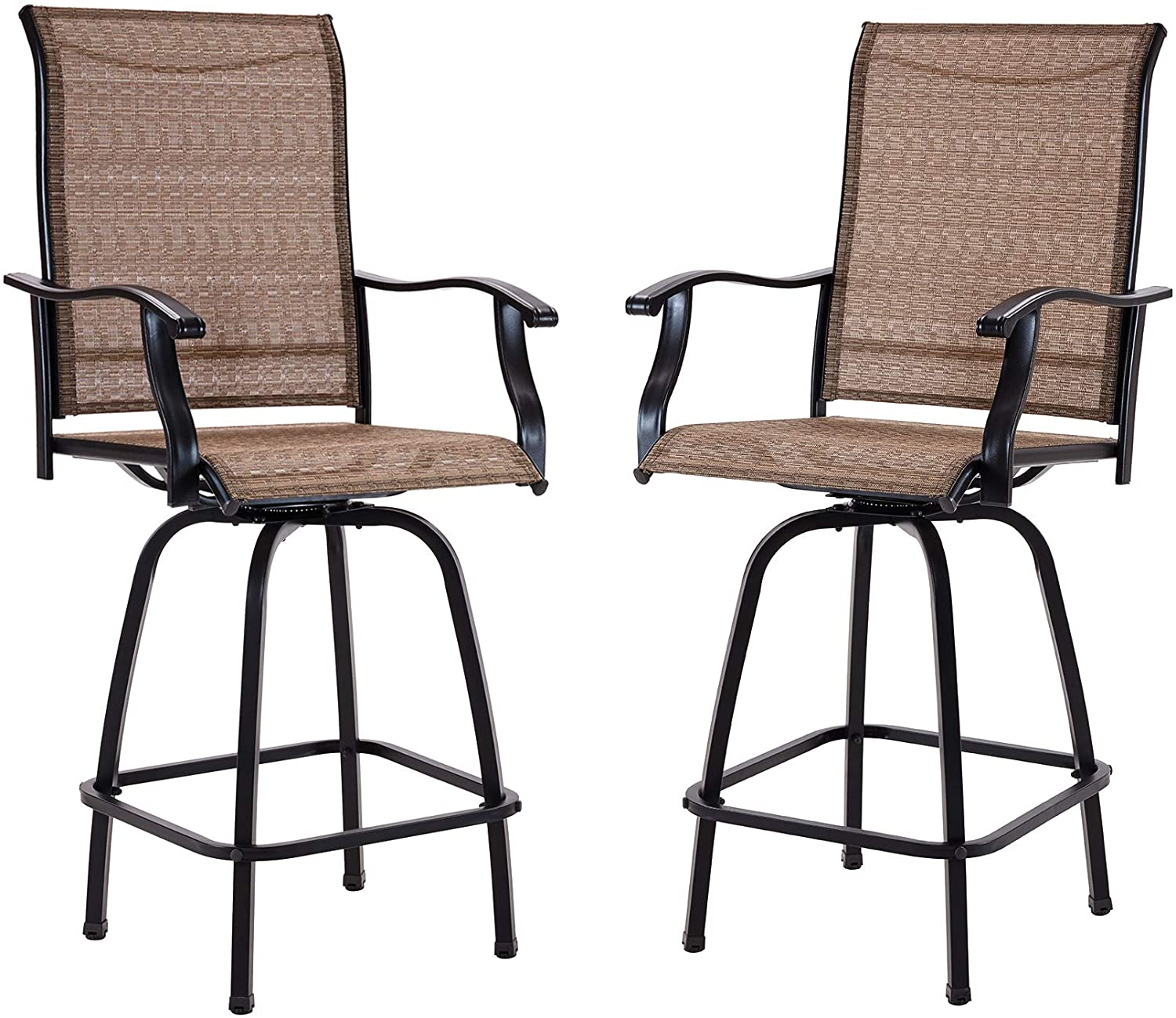 VICLLAX Swivel Manufacturer regenerated product Bar Stools Patio outlet Furnit Outdoor All-Weather Chair