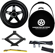 Complete Compact Spare Tire Kit w/Carrying Case - Fits 2013-2019 Cadillac ATS All Trims - Modern Spare