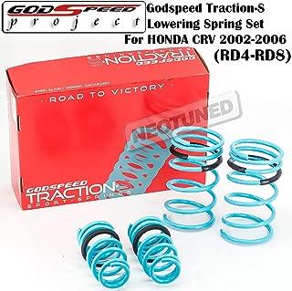 Godspeed (LS-TS-HA-0011) Traction-S Lowering Spring Set For Honda CRV 2002-2006 RD4-RD8 gsp set kit