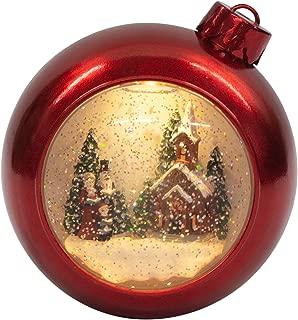 Victorian Church and Carolers 7 Inch Acrylic Glitter Snow Globe Ornament