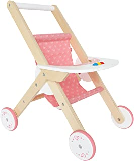 Hape Babydoll Stroller Toddler Wooden Doll Play Furniture