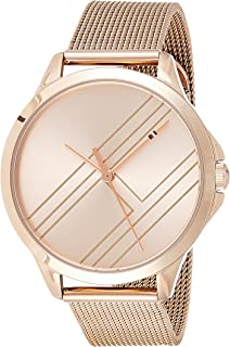 Tommy Hilfiger 1781963 Womens Quartz Watch, Analog Display and Stainless Steel Strap, Rose Gold