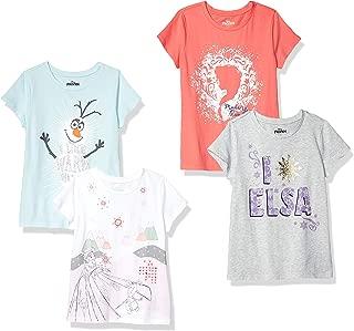 by Disney Frozen - Girls' Toddler & Kids 4-Pack Short-Sleeve T-Shirts