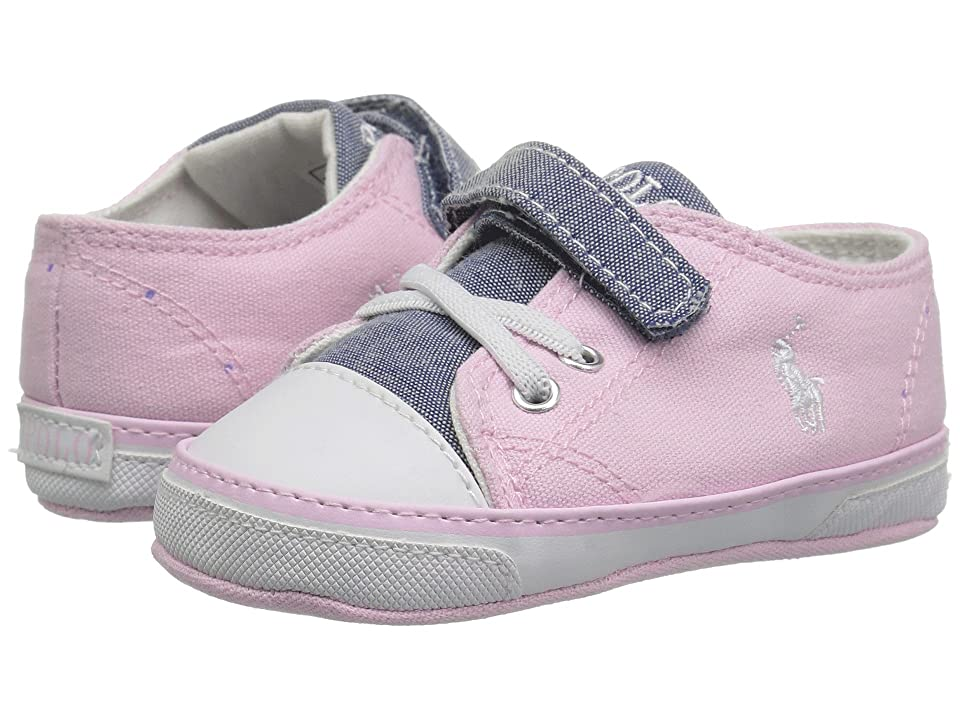 Polo Ralph Lauren Kids Koni (Infant/Toddler) (Light Pink Canvas/Blue Chambray Color Block) Girl
