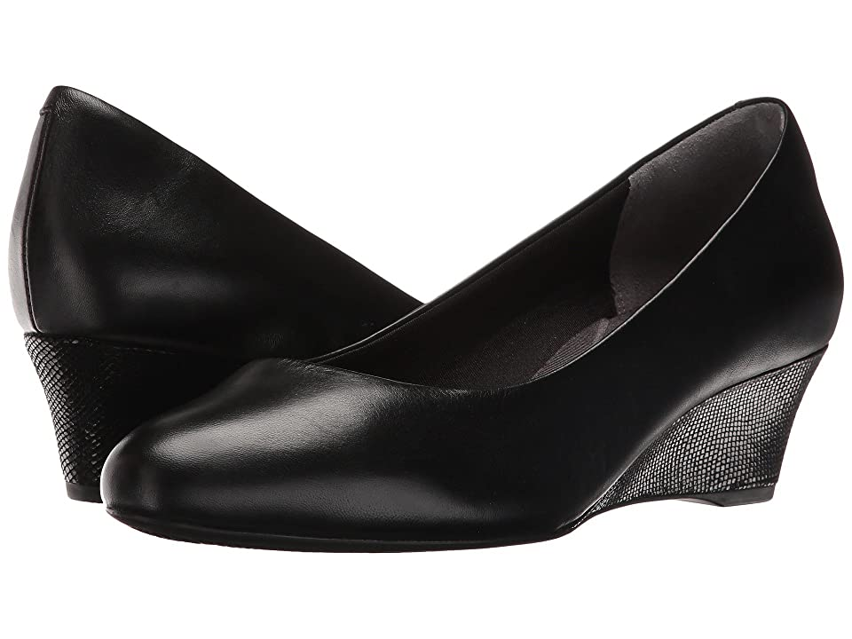 1940s Style Shoes, 40s Shoes Rockport Total Motion Catrin Black Leather Womens Shoes $109.95 AT vintagedancer.com