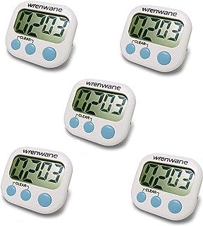 Wrenwane Digital Kitchen Timer (Upgraded), No Frills, Simple Operation, Big Digits, Loud Alarm, Magnetic Backing, Stand, W...