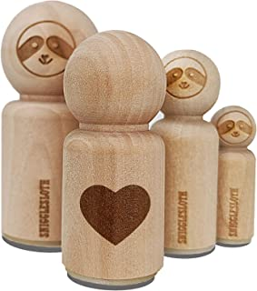 Heart Solid Rubber Stamp for Stamping Crafting Planners - 1-1/4 Inch Large