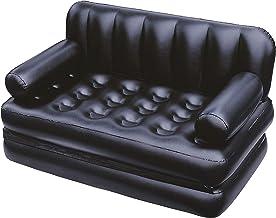 بيست واى اريكة مزدوجة متعددة الاستخدام 5X1 قابله لنفخ مع منفاخ هواء ، اسود ، 75056