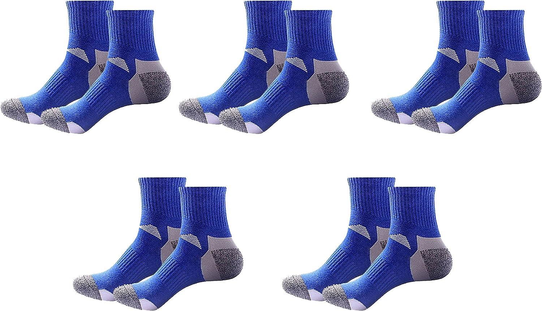 Basic Crew Compression Socks For Men (Assorted 5-Pack) (blueee)