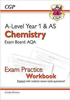 A-Level Chemistry: AQA Year 1 & AS Exam Practice Workbook - includes Answers