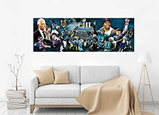 purenet Panoramic eagle Super Bowl Collage on canvas (20X60)