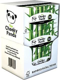 The Cheeky Panda – Bamboo Facial Tissues   Bulk Box of 12 Packs (80 Tissues per Pack, 960 Tissues Total)   Flat Box, 3 Pl...
