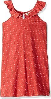 فستان روكسي للفتيات مزين بكشكشة على شكل قلب الغابة الكبير