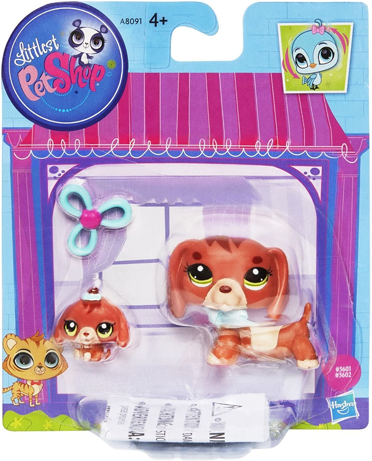 Littlest Pet Shop  3601 Dachshund and  3602 Baby Dachshund Pets