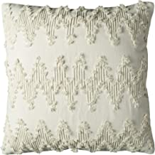 "Rizzy Home Decorative Pillow, Ivory, 20"" x 20"""