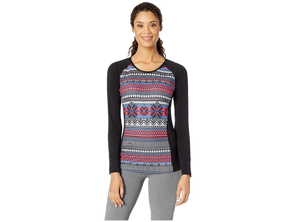 Hot Chillys MTF Sublimated Print Scoop Neck Top (Alpine/Black) Women's T Shirt