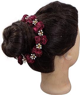 Set Of 12 Indian Women Juda Bun Hair Gajra Pins Accessories 20g