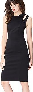 Marca Amazon - find. Vestido Ajustado con Aberturas para Mujer