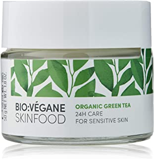 BIO:VÉGANE SKINFOOD Organic Green Tea - 24 Hour Care for Sensitive Skin, Vegan, NATRUE-Certified, Natural Cosmetics for Se...