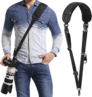 waka Camera Neck Strap with Quick Release and Safety Tether, Adjustable Camera Shoulder Sling Strap for Nikon Canon Sony Olympus DSLR Camera - Black