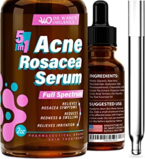 Acne Treatment Serum - Natural Skin Care Serum for Acne and Dark Spots with Niacinamide, Tea Tree Oil, Hyaluronic Acid & Tamanu Oil - Effective Rosacea Treatment - Acne Serum for Oily Skin