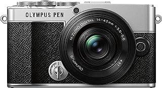 Olympus Pen E-P7 Kamera-Kit, 20-MP-Sensor, neigbarer HD LCD-Bildschirm, 4K-Video, Wi-Fi, Farb- und Monochromprofilsteuerung, Silber, inkl. M.Zuiko Digital ED 14-42mm EZ, schwarz