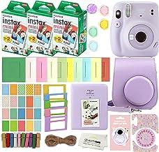 Fujifilm Instax Mini 11 Instant Camera with Case, 60 Fuji Films, Decoration Stickers, Frames, Photo Album and More Accesso...