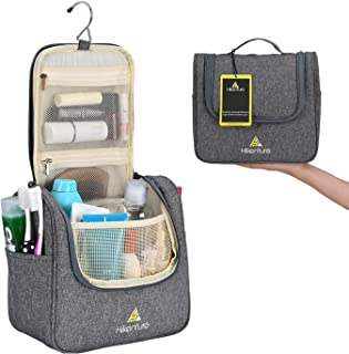 Hikenture® Travel Toiletry Bag with Huge Capacity | Portable Makeup Organizer | Waterproof Cosmetic Bag|Hanging Toiletry Bag for Men&women| Waschable Dopp Kit|TSA Friendly Bathroom Storage| Travel Bathroom Organizer