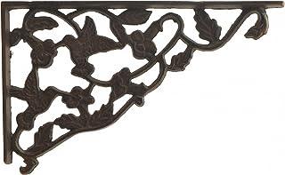 "Import Wholesales Shelf Bracket Decorative Cast Iron Wall Brace Hummingbird & Vine Pattern 11.75"""