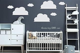 comprar comparacion Graz Design - Adhesivo decorativo para pared (3 unidades), diseño de nube grande para IKEA RiBBA MOSSLANDA, Vinilo., Blanc...