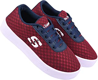 Axter-9017 Maroon Exclusive Range of Loafers Sneakers Shoes for Women