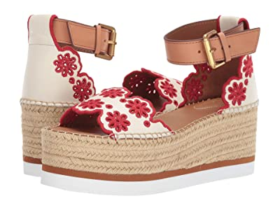 See by Chloe SB32202A (Chalk Nappa Matt Goat/Red) Women