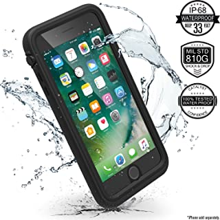 iPhone 7 Plus Waterproof Case, Shock Proof, Drop Proof by Catalyst for Apple iPhone 7+ with High Touch Sensitivity ID (Stealth Black)