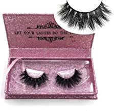 Mikiwi Real Mink Lashes DA006, 3D Mink Lashes, Premium Quality Reusable Handmade Cruelty Free, Siberian Mink Fur Hair, Long Thick Dramatic Look Fake Lashes