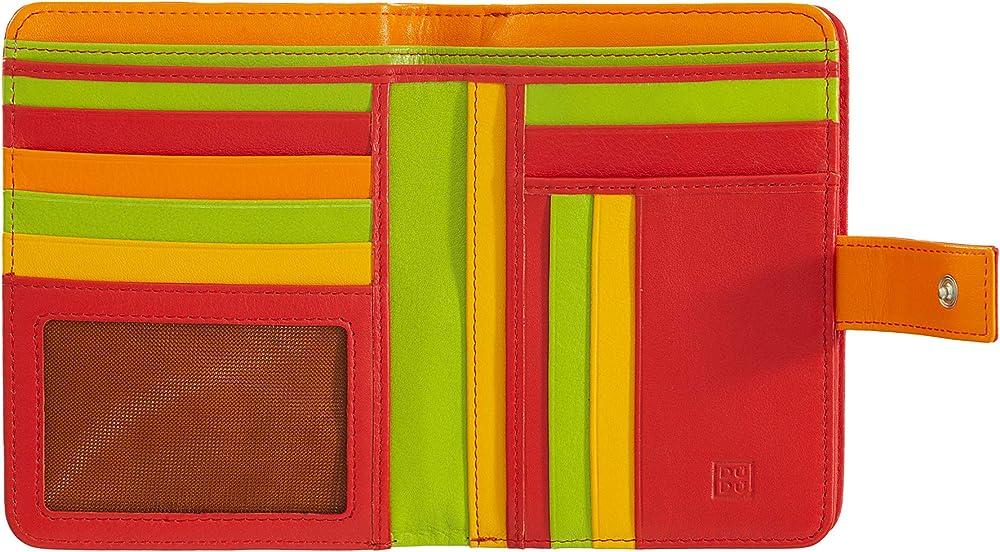 Dudu, portafoglio, porta carte di credito per donna, con protezione rfid, multicolore,  in pelle morbida 8031847129953