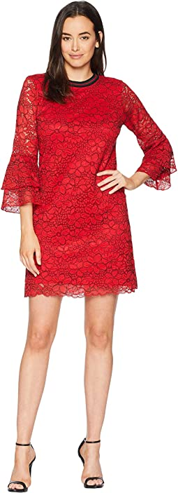 Cherry Bomb Floral Corded Lace Antonine Dress