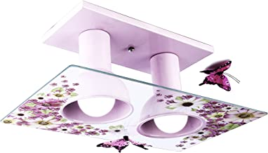 Startec 145700048, Plafon Floral, 80W, Branco/Multicor