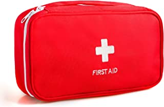 Portable First Aid Empty Kit Pouch Tote Small First Responder Storage Bag Compact Emergency Survival Bag Medicine Bag with Home Office Travel Camping Sport Backpacking Hiking Cycling Gym Car Outdoor