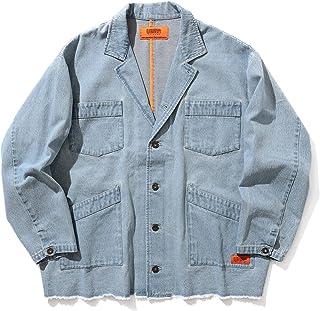 [ビームス] テーラードジャケット UNIVERSAL OVERALL × BEAMS 別注 デニム ジャケット ユーズドウォッシュ メンズ