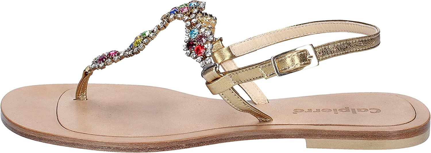 CALPIERRE Sandals Womens Leather Silver