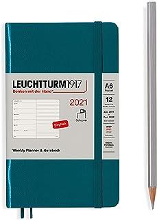 ロイヒトトゥルム 手帳 2021年 1月始まり A6 ウィークリー ソフト パシフィックグリーン 361957