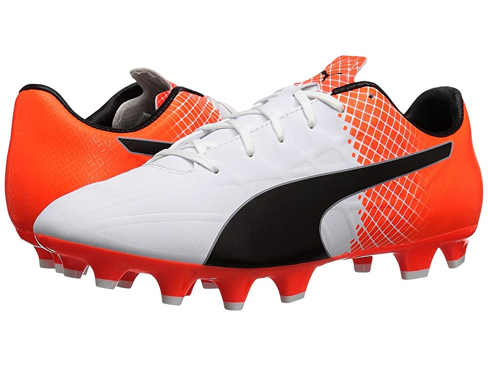 PUMA evoSPEED 4.5 FG (Puma White/Puma Black/Shocking Orange) Men