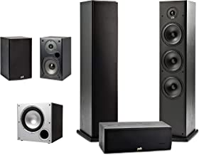 Polk Audio 5.1 Channel Home Theater System with Powered Subwoofer |Two (2) T15 Bookshelf, One (1) T30 Center Channel, Two ...
