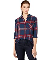 Mia Button Down - Copen Navy Plaid