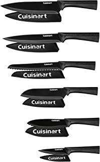 Cuisinart C55-12PMB Advantage 12 Piece Metallic Knife Set With Blade Guards, Black