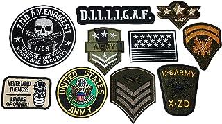厳選 USアーミー ARMY 軍物 NEWアイロンワッペン 10枚セットNo2