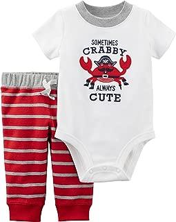 Carter's Baby Boys' 0M-24M 2 Piece Bodysuit and Pants Set