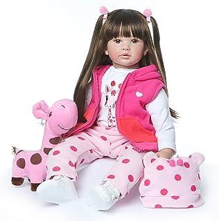 32f892831567c ZIYIUI Reborn Poupée bébé Souple en Silicone réaliste en Vinyle Souple  Magnétique Sucette Belle Lifelike Mignon