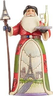 "Jim Shore Heartwood Creek French Santa Stone Resin Figurine, 7.25"""