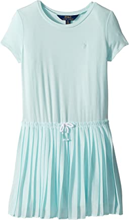 Pleated Jersey T-Shirt Dress (Little Kids)